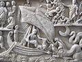 Fronte del sarcofago di giona, 280-300 dc., da necropoli vaticana 02.JPG