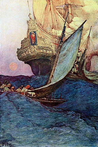 "Brandywine School - An illustration from Howard Pyle's Book of Pirates (1903) exemplifies the ""Brandywine School"" style."