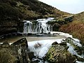 Frozen waterfall on Arndale Beck - geograph.org.uk - 697588.jpg