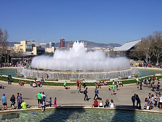 1929 Barcelona International Exposition - The Magic Fountain in 2014
