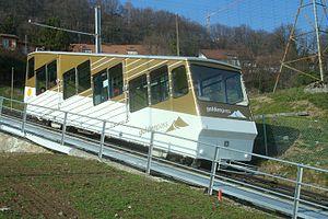 Vevey–Chardonne–Mont Pèlerin funicular railway - Image: Funiculaire Vevey–Chardonne–Mont Pèlerin Voiture 1 01