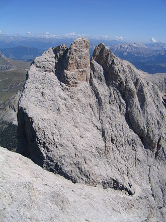 Double summit - The Furchetta in the Dolomites