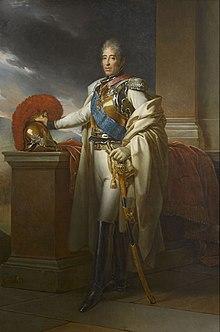 portrait de Charles X en uniforme en 1815
