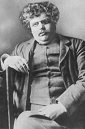 The Ballad of the White Horse - G. K. Chesterton, the poem's author.