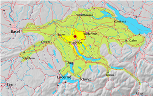 Zurich metropolitan area - Overview map