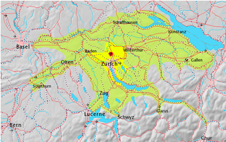 Zurich metropolitan area - Overview map