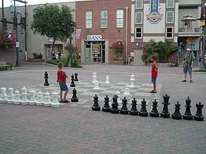 Strand Historic District - The enormous chessboard at Saengerfest Park along the Strand