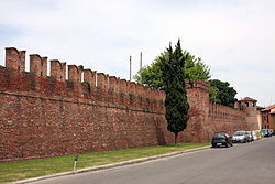 View of the castle's walls.