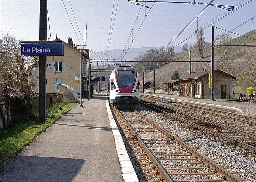 La gare de La Plaine, Canton de Genève