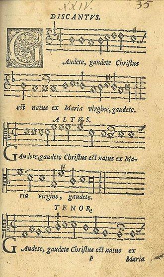 Gaudete - The first page of the original version