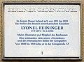 Gedenktafel Potsdamer Str 29 Lyonel Feininger.JPG
