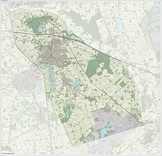 Asten, Netherlands - Topographic map of Asten (municipality), June 2015