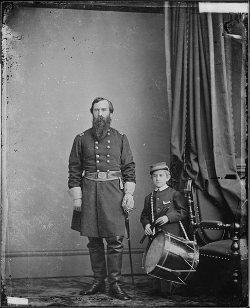 File:Gen. Richard Busteed and drummer boy - NARA - 528818.jpg