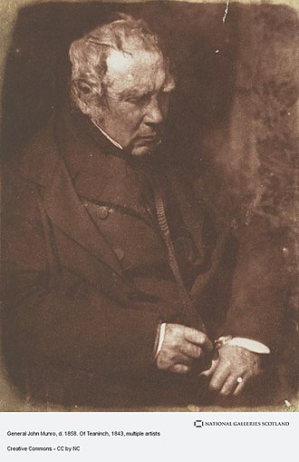 John Munro, 9th of Teaninich - Calotype portrait of John Munro by David Octavius Hill and Robert Adamson, 1843.