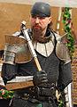 General Khaine, leader of the Iron Wolves, at the Three Barons Renaissance Faire.jpg