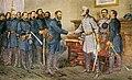 General Robert E. Lee surrenders at Appomattox Court House 1865.jpg