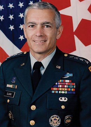 Military photo portrait of Wesley Clark, forme...