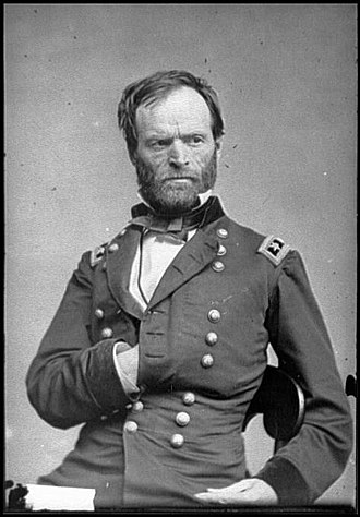 Meridian Campaign - Maj. Gen. William Tecumseh Sherman, commander of Union forces in the Meridian Campaign
