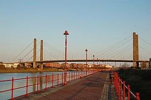 George Street Bridge, Newport - Image: George Street Bridge 2