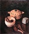 Georges Kars, Kuřácké zátiší se žlutou dózou, 1926.jpg