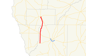 Georgia State Route 310 - Image: Georgia state route 310 map