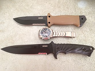 Gerber Legendary Blades - These are two of the most popular Gerber knives. The smaller is the Gerber LMF II and the larger is the Gerber LHR Sheath knife