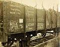 German railcar filled with wood of Argonne forest at Varennes, France, 1919 (32140189612).jpg