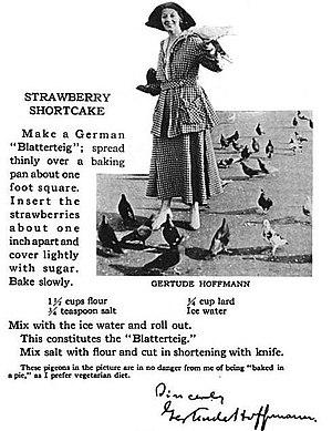 Gertrude Hoffmann (dancer) - Celebrated Actor Folks' Cookeries 1916