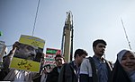 Ghaqr F Missile at the Anniversary of Islamic Revolution 2018 01.jpg