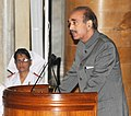 Ghulam Nabi Azad addressing at the presentation ceremony of the Florence Nightingale Awards 2013, on the occasion of the International Nurses Day, at Rashtrapati Bhavan, in New Delhi on May 12, 2013.jpg