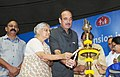 Ghulam Nabi Azad lighting the lamp to launch the Mass Screening Camps for Diabetes & Hypertension in Slums, in New Delhi on July 19, 2011. The Chief Minister of Delhi Smt. Sheila Dikshit is also seen.jpg