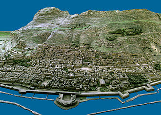 Gibraltar Museum - A sample photograph showing how the model includes every house and roadway.