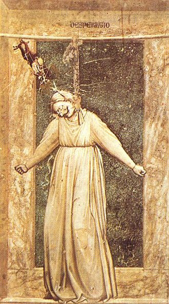 Suicide methods - Giotto's Desperatio, depicting suicide by hanging