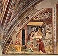 Giovanni cristiani e bottega, natività, crocifissione con santi e compianto, 1390 ca. 02.jpg