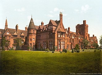 Girton College, Cambridge - Girton College during the 1890s