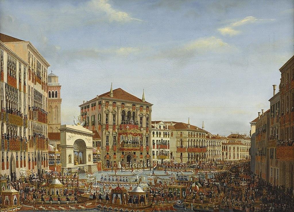 Giuseppe Borsato - Napoleone assiste alla regata a Venezia nel 1807