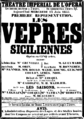 Giuseppe Verdi - Les Vêspres siciliennes - announcement for the first performance 1855.png