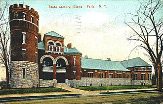 National Register of Historic Places listings in Warren County, New York - Image: Glens Falls State Armory