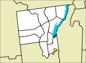 Location of Glens Falls in Warren County
