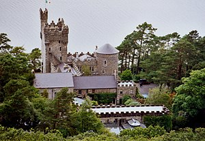 "English: Glenveagh Castle. ""Overlooking L..."