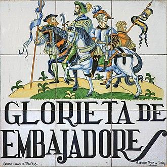 Embajadores - Image: Glorieta de Embajadores (Madrid) 01