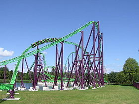 «Goliath» au parc d'attractions Walibi Holland.