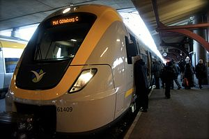 Gothenburg commuter rail - An X61 at Gothenburg Central Station