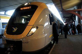 Gothenburg commuter rail - An X61 at Gothenburg Central Station