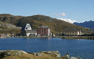 Gotthard Pass - Lago della Piazza and Hospice area