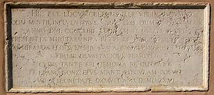 Governolo, lapide a Papa Leone I.[21]