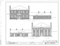 Governor Thomas Bibb House, County Road 71, Belle Mina, Limestone County, AL HABS ALA,42-BELMI,1- (sheet 1 of 7).png