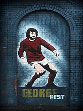 c14c8bc2a Mural of George Best in Belfast in his dribbling pose.