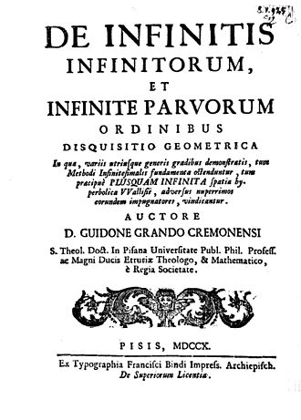Luigi Guido Grandi - De infinitis infinitorum