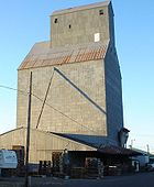 A grain elevator in Halsey storing grass seed, one of the state's largest crops.